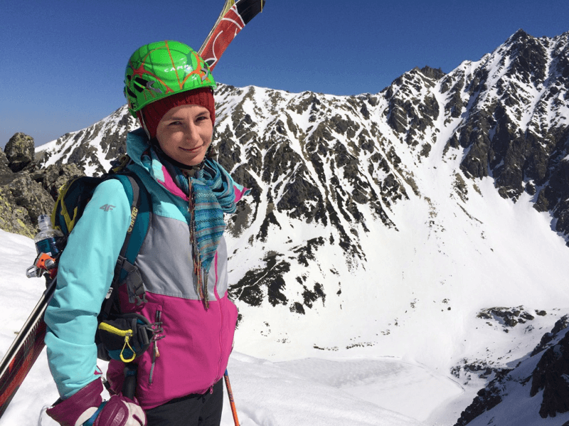 Izabela Bujak hobby: ski touring, hiking, skying